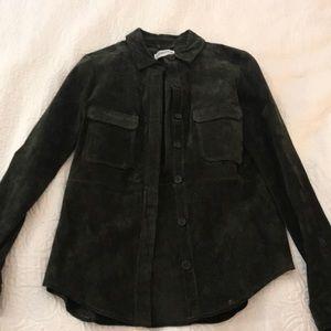 Zara suede shirt